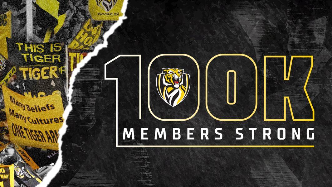 Tigers reach 100K members in 2019
